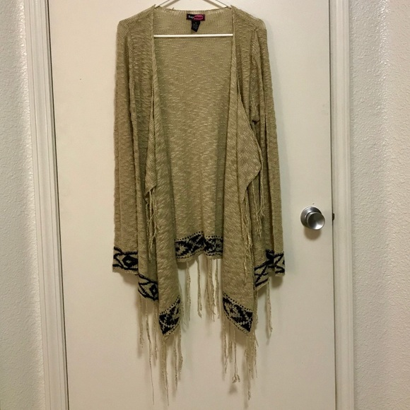 Sweaters - Open Front Cardigan